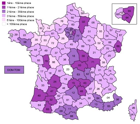 carte de rpartition des mlanie en 2000